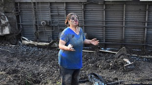 A woman at the scene of the crash.