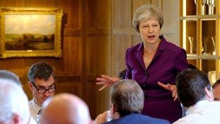 Theresa May addresses the Cabinet at Chequers