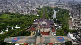The view over Buckingham Palace