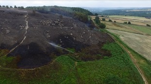 People urged to avoid area as crews continue to tackle moorland fire
