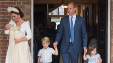 Today is the first time the Cambridges have been seen as a family of five since Louis was born.