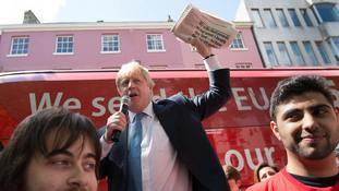 Boris Johnson makes a speech in York during the referendum campaign
