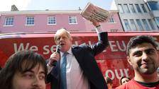 Boris Johnson makes a speech in York during the referendum campaign