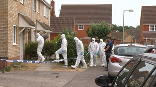 The man was found with stab wounds in Underwood Close.