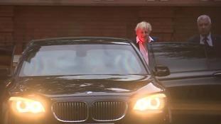 Boris Johnson leaves the foreign secretary's official residence at Carlton Gardens, central London