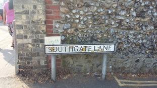 Gareth Southgate Lane in Norwich