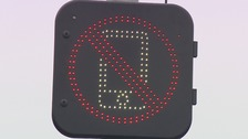 A new warning sign for motorists on mobiles near Norwich Airport