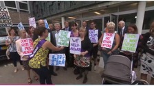 Protest against disabled after-school club cuts