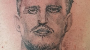 Fan who got Harry Maguire's face tattooed on his chest praised by England star