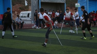 Football serving as a healer for Syrian amputee team
