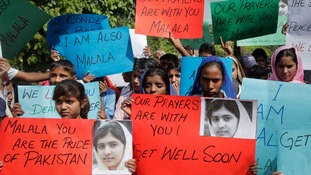Students protested around Pakistan after Malala's shooting in October