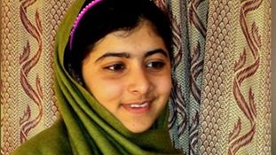 Malala pictured before the Taliban attack