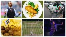 Gareth Southgate, fish and chips, shopping, Justin Timberlake, Wimbledon, meatballs.