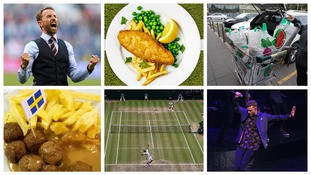 Gareth Southgate, fish and chips, shopping, Justin Timberlake, Wimbledon, meatballs