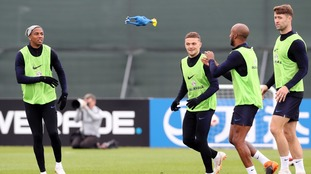 England trained with a rubber chicken ahead of their Croatia clash.