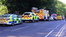 Ambulances, fire engines, a Water Rescue Unit and several police cars attended the scene near the Cauldon Canal