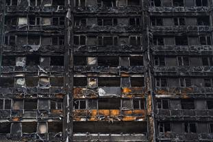 Damage caused to Grenfell Tower