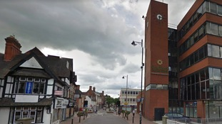 Town centre street closed after body of woman found