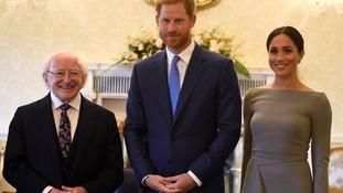 Duke and Duchess of Sussex meet Irish President