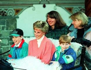 William, Diana and Harry