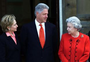 The Queen and Bill Clinton
