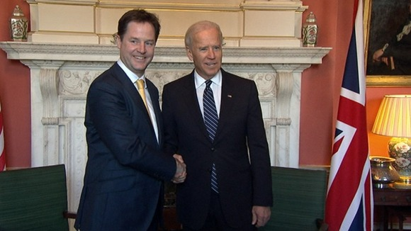 Deputy Prime Minister welcomes US Vice President Joe Biden to Downing Street