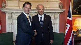 Deputy Prime Minister welcomes US Vice President Joe Biden to Downing Street