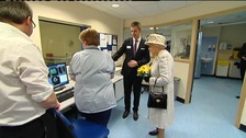Queen visits hospital to open new scanner