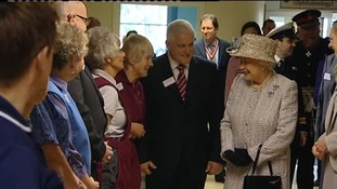 The Queen at the Queen Elizabeth Hospital in King's Lynn