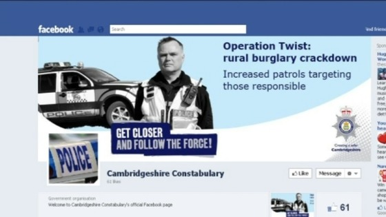 Cambridgeshire police facebook page