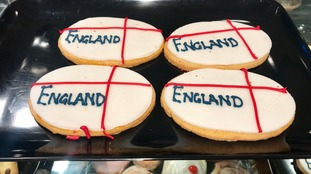 Special World cup buns made by Days bakery in Great Chesterford