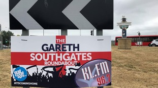 The Southgates Roundabout in King's Lynn is now known as the 'Gareth Southgates Roundabout'