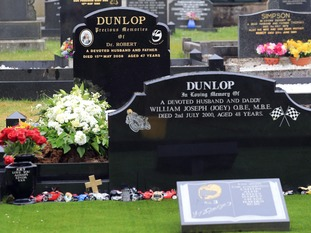 William Dunlop was buried in the same graveyard as Robert.