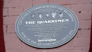 plaque of the quarrymen