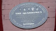 plaque of the quarrymen