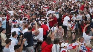 Fans at Nottingham Castle.