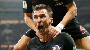 Mario Mandzukic celebrates the winner.