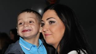 Bradley Lowery and his mother