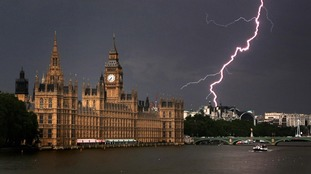 The Met Office has issued a yellow thunderstorm warning for some areas.