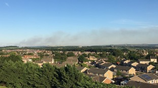 Smoke from Salisbury Plain fire spreads across Somerset