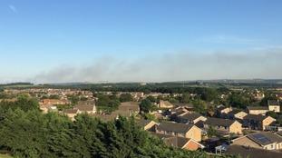 Smoke from Salisbury Plain fire spreads across Somerset