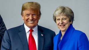 US President Donald Trump will meet Theresa May