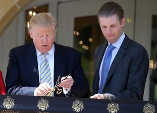 Donald and Eric Trump