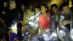 The boys were trapped in the Tham Luang Cave network in Northern Thailand.