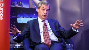 Nigel Farage encourages Theresa May to embrace Donald Trump similar to the French president Emmanuel Macron did last year on Bastille Day.