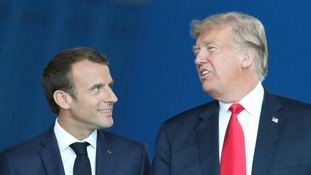 Claims Nato allies agreed to increase spending were rubbished by Macron.