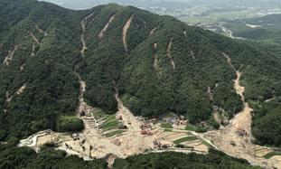 Landslides in Kure, Hiroshima prefecture, south-western Japan