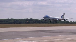 Air Force One, the President's official jet