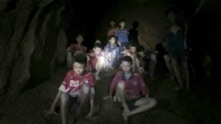 This was the first picture of the missing Thai boys beamed across the world.