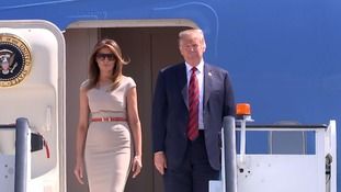 Trump's wife Melania is joining him on the visit